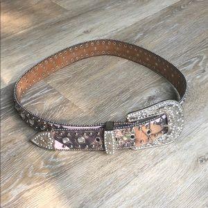 Blazin Roxx camo pattern rhinestone belt